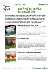 Šumavsko - tip na výlet - Relaxační tipy