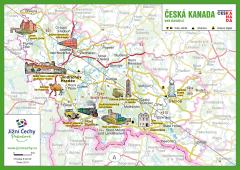 Trhací mapa Jižní Čechy Pohodové - ČESKÁ KANADA