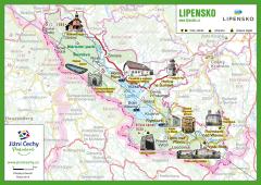 Trhací mapa Jižní Čechy Pohodové - LIPENSKO