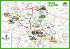 Trhací mapa Jižní Čechy Pohodové - PÍSECKO -…