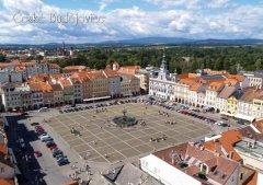 Pohlednice Č. Budějovice 49 náměstí z výšky Binder