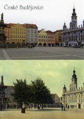 Pohlednice Č. Budějovice 25 náměstí PO II.…