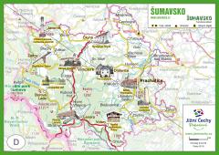 Trhací mapa Jižní Čechy Pohodové - ŠUMAVSKO