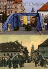 Pohlednice Č. Budějovice 23 Železný most historie…