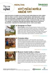 Šumavsko - tip na výlet - Naučné tipy