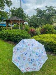 Deštník holový bílý Jižní Čechy opravdová láska