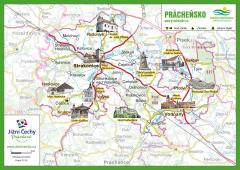 Trhací mapa Jižní Čechy Pohodové - PRÁCHEŇSKO