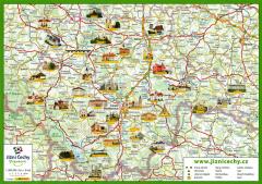 Trhací mapa JČP seznam IC a památek 2019