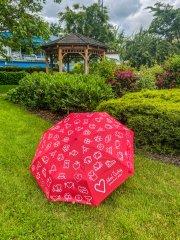Deštník skládací červený Jižní Čechy opravdová…