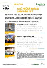 Šumavsko - tip na výlet - Sportovní tipy