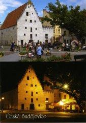 Pohlednice Č. Budějovice 20 Solnice den a noc…