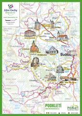 Trhací mapa Jižní Čechy Pohodové - PODKLETÍ