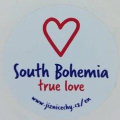 Samolepka Jižní Čechy opravdová láska kulatá ENG