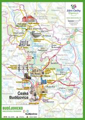 Trhací mapa Jižní Čechy Pohodové - BUDĚJOVICKO