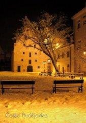 Pohlednice Č. Budějovice 38 Solnice zima Binder