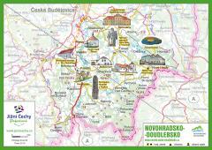Trhací mapa Jižní Čechy Pohodové - NOVOHRADSKO…