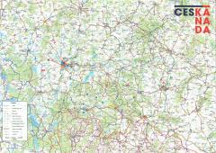 Trhací mapa Česká Kanada CZ