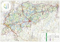 Trhací mapa Třeboňska DE