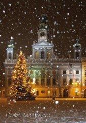 Pohlednice Č. Budějovice 36 vánoční radnice…