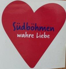 Samolepka Jižní Čechy opravdová láska srdce…
