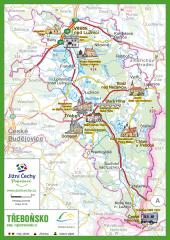 Trhací mapa Jižní Čechy Pohodové - TŘEBOŇSKO