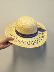 Slaměný klobouk dámský - Ahoj na Vltavě