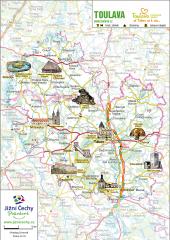 Trhací mapa Jižní Čechy Pohodové - TOULAVA